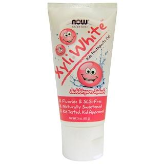 Now Foods, Soluciones, pasta dental en gel para niños Xyli-White, frescura de chicle (85g)