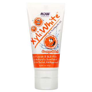 Now Foods, Solutions, XyliWhite, Kids Toothpaste Gel, Orange Splash, 3 oz (85 g)