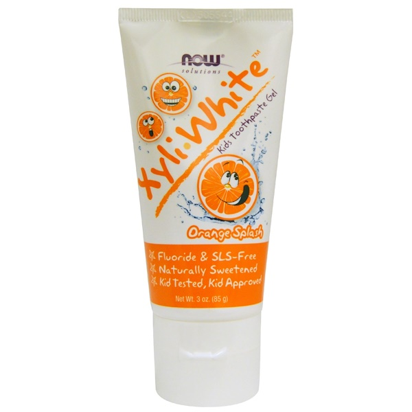 Now Foods, Solutions, XyliWhite, Kids Toothpaste Gel, Orange Splash, 3 oz (85 g)
