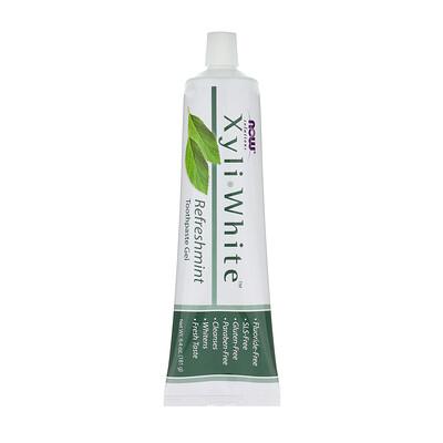 Фото - Solutions, XyliWhite, зубная гель-паста, освежающая мята, 181г (6,4 унции) аюрведическая зубная паста на травах классическая 117г 4 16унции