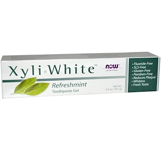 Now Foods, Solutions, Gel dentifrice Xyli-White, Refreshmint, 6,4 oz (181 g)