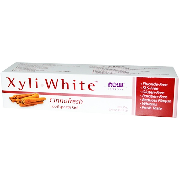 Now Foods, Solutions, Xyliwhite, Toothpaste Gel, Cinnafresh, 6.4 oz (181 g)