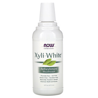 Now Foods, Solutions,Xyli-White 漱口水,無氟,清新薄荷味,16 液量盎司(473 毫升)