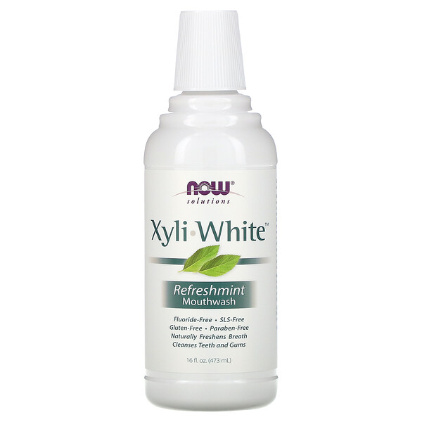Solutions, Xyli-White Mouthwash, Fluoride-Free, Refreshmint, 16 fl oz (473 ml)