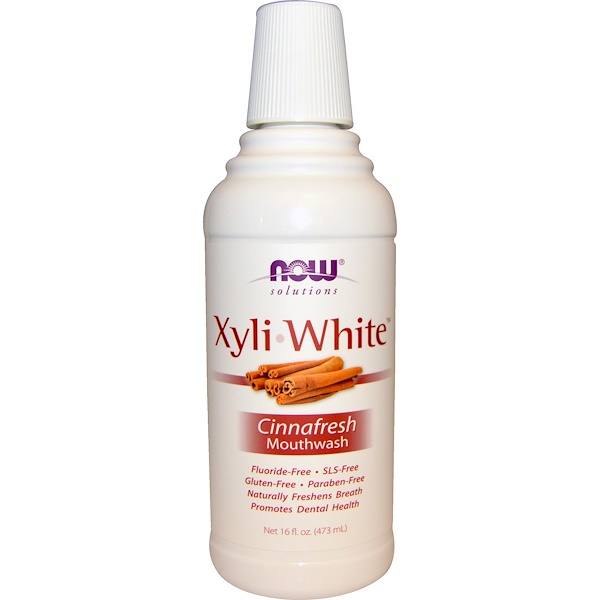 Solutions, XyliWhite Mouthwash, Cinnafresh, 16 fl oz (473 ml)