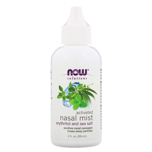 Now Foods, Solutions, Activated Nasal Mist, 2 fl oz (59 ml)