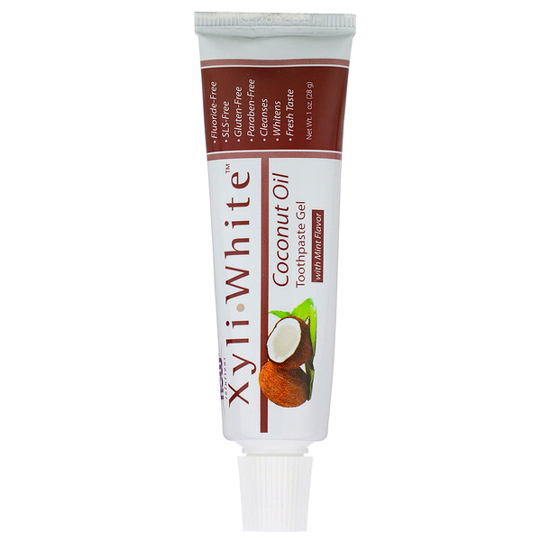 Solutions, XyliWhite, Toothpaste Gel, Coconut Oil, Mint Flavor, 1 oz (28 g)