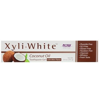 Solutions, XyliWhite, зубная гель-паста, с кокосовым маслом, со вкусом мяты, 181г (6,4унции)