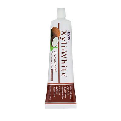 Фото - Solutions, XyliWhite, зубная гель-паста, с кокосовым маслом, со вкусом мяты, 181г (6,4унции) pre workout explosion ripped со вкусом арбуза 168г 5 91унции
