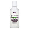 Now Foods, Solutions, Xyli-White Mouthwash, Fluoride-Free, Neem & Tea Tree with Mint Flavor, 16 fl oz (473ml)