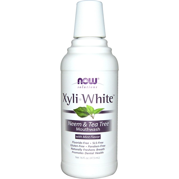 Solutions, XyliWhite Mouthwash, Neem & Tea Tree with Mint, 16 fl oz (473ml)