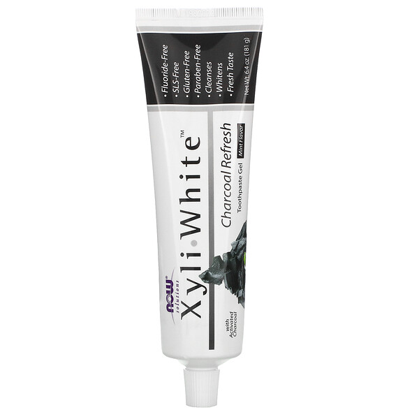 Solutions, XyliWhite, Charcoal Refresh, Toothpaste Gel, Mint, 6.4 oz (181 g)