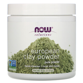 Now Foods, Solutions, polvo de arcilla europea, limpiador facial, 6 oz (170 g)