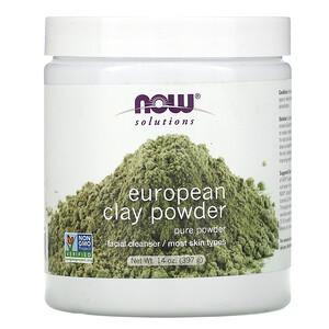 Now Foods, Solutions, European Clay Powder, 14 oz (397 g) отзывы покупателей