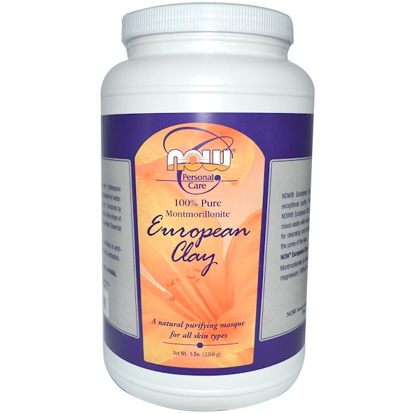 Now Foods, Personal Care, European Clay, 5 lbs (2268 g) (Discontinued Item)