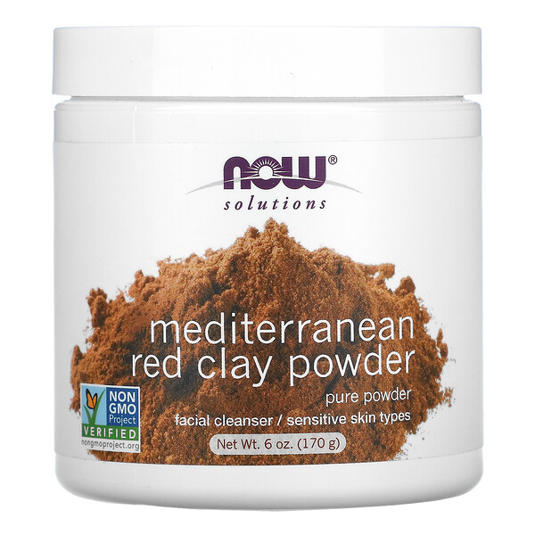 Now Foods, Solutions, Mediterranean Red Clay Powder, 6 oz (170 g)