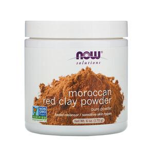 Now Foods, Solutions, Moroccan Red Clay Powder, 6 oz (170 g) отзывы покупателей
