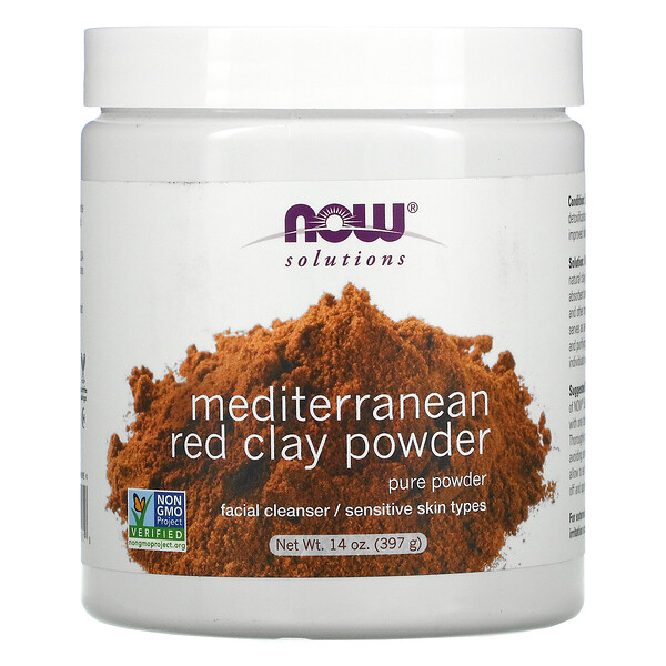 Solutions, Mediterranean Red Clay Powder, 14 oz (397 g)