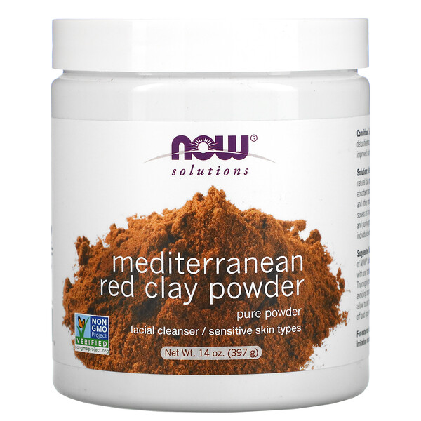 Now Foods, Solutions, Mediterranean Red Clay Powder, 14 oz (397 g)