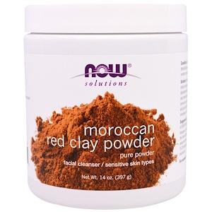 Now Foods, Порошок марокканской красной глины, 14 унций (397 г) инструкция, применение, состав, противопоказания