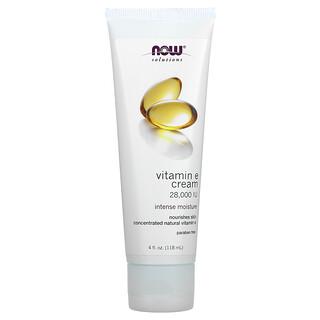 Now Foods, Solutions, Vitamin E Cream, 28,000 IU, 4 fl oz (118 ml)
