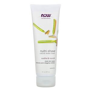 Now Foods, Solutions, Nutri-Shave, Natural Shave Cream, 8 fl oz (237 ml) отзывы покупателей