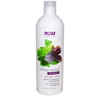 Now Foods, Solutions, Herbal Revival Shampoo, 16 fl oz (473 ml)