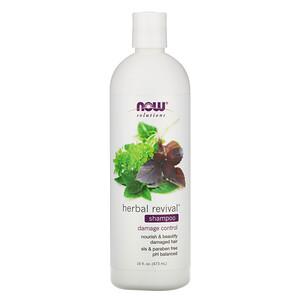 Now Foods, Solutions, Herbal Revival Shampoo, 16 fl oz (473 ml) отзывы покупателей