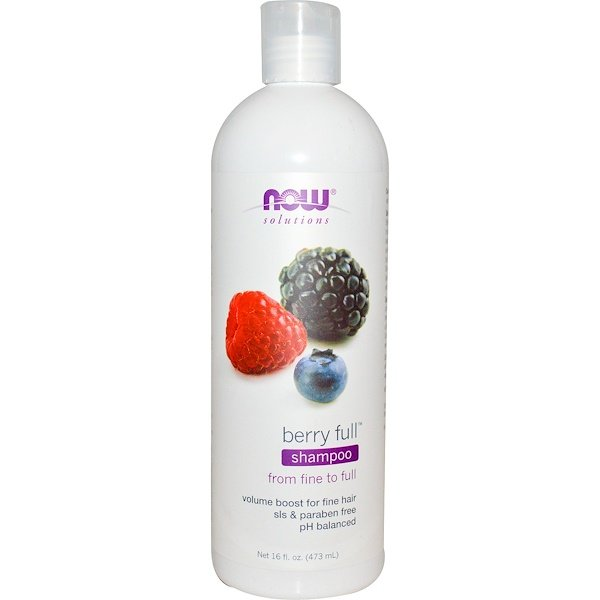 Now Foods, Solutions, Berry Full Shampoo, 16 fl oz (473 ml) (Discontinued Item)