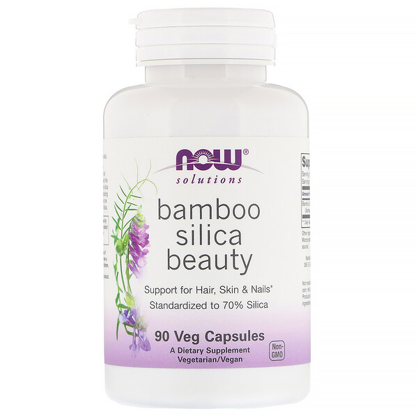 Now Foods, Solutions, Bamboo Silica Beauty, 90 capsules végétariennes