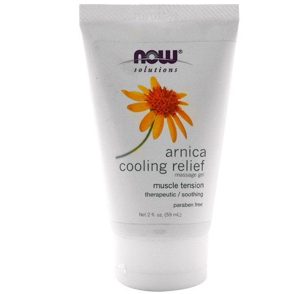 Now Foods, Solutions, Arnica Cooling Relief Massage Gel, 2 fl oz (59 ml) (Discontinued Item)