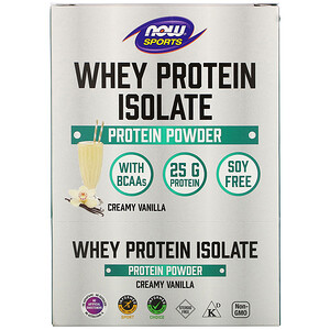 Now Foods, Sports, Whey Protein Isolate, Creamy Vanilla, 8 Packets, 1.13 oz (32 g) Each'