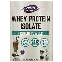 Now Foods, Sports, Whey Protein Isolate, Creamy Chocolate, 8 Packets, 1.16 oz (33 g) Each