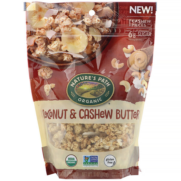 Nature's Path, Crunchy Granola, Coconut & Cashew Butter, 11 oz (312 g)