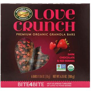 Nature's Path, Love Crunch, Premium Organic Granola Bars, Dark Chocolate & Red Berries, 6 Bars, 1.06 oz (30 g) Each