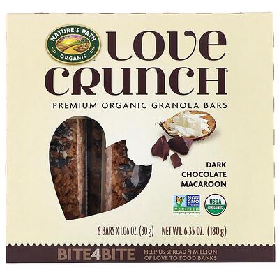Купить Nature's Path Love Crunch, органические батончики с гранолой премиального качества, «Кокосовое печенье с черным шоколадом», 6 батончиков, 30 г (1, 06 унции) каждый