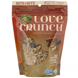 Nature's Path, Love Crunch, Dark Chocolate Cinnamon & Cashew, 11.5 oz (325 g)
