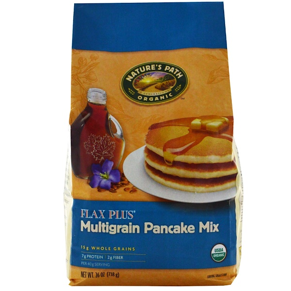 Nature's Path, Organic Pancake Mix, FlaxPlus Multigrain, 26 oz (738 g) (Discontinued Item)