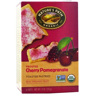 Nature's Path, Organic, Frosted Toaster Pastries, Cherry Pomegranate, 6 Tarts, 52 g Each