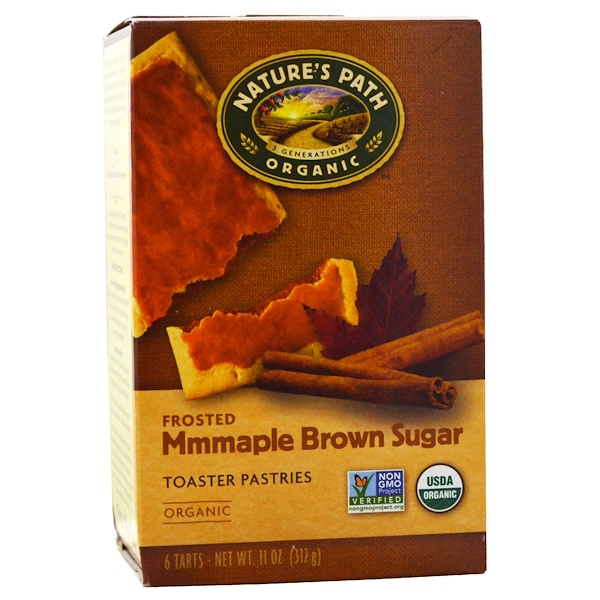 Nature's Path, Organic, Frosted Toaster Pastries, Maple Brown Sugar, 6 Tarts, 52 g Each (Discontinued Item)