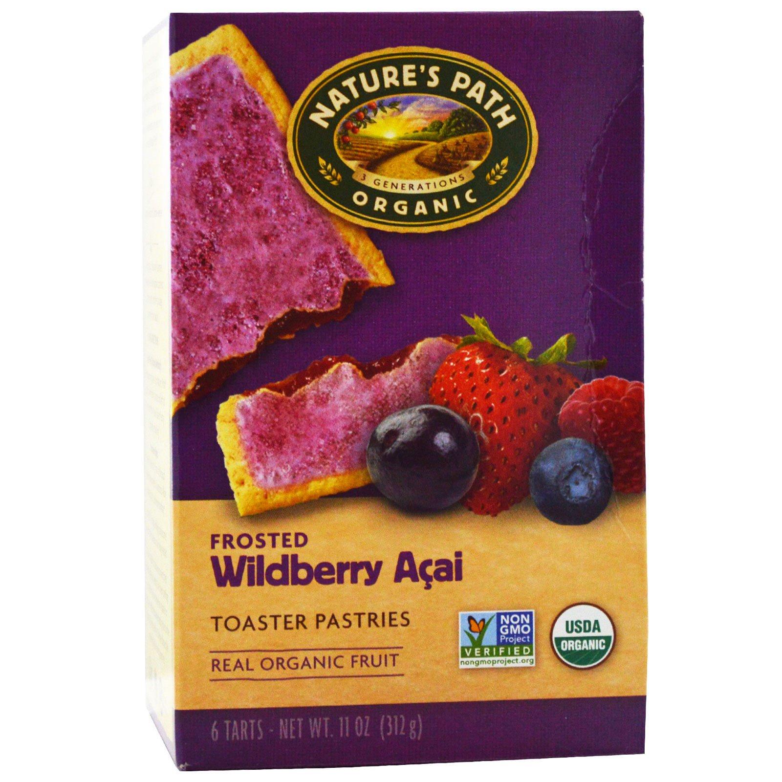 Nature's Path, Органическое замороженное печенье, дикие ягоды асаи, 6 шт, 52 г каждое
