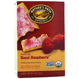 Натурес Пат, Organic, Frosted Toaster Pastries, Razzi Raspberry, 6 Tarts, 52 g Each отзывы покупателей
