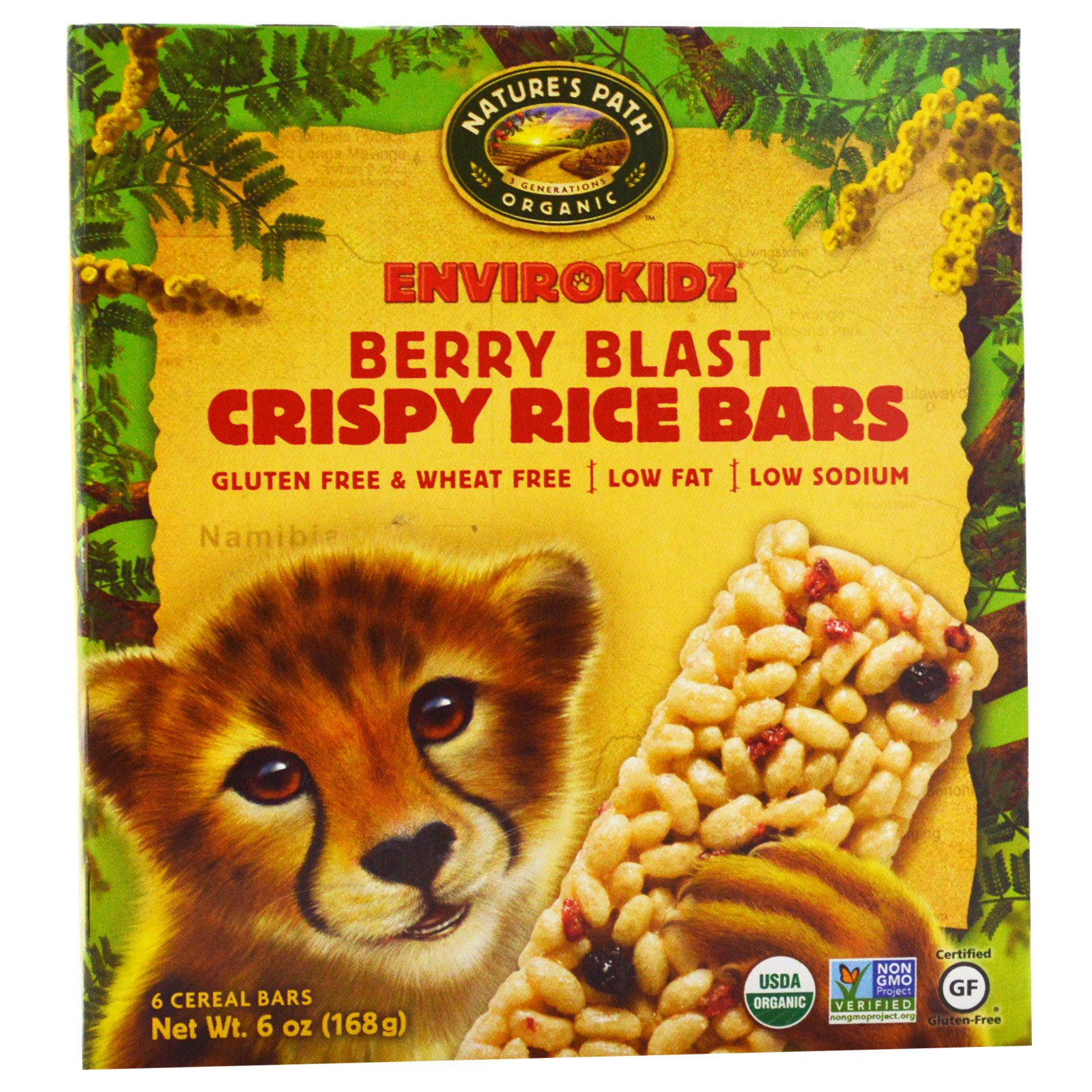 Nature's Path, EnviroKidz, Organic Crispy Rice Cereal Bars