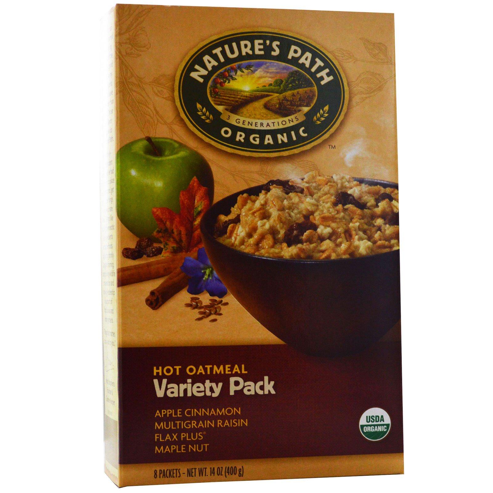 Nature's Path, Organic, горячая овсянка, ассорти, 8 пакетиков, по 50 г каждый