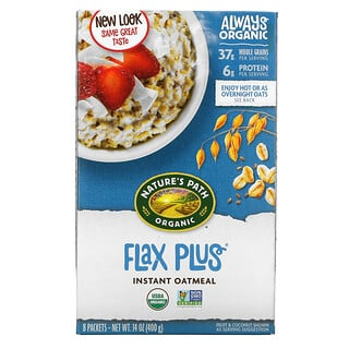 Nature's Path, Organic Instant Oatmeal, Flax Plus, 8 Packets, 50 g Each