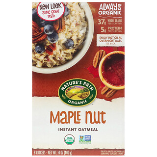 Nature's Path, Organic Instant Oatmeal, Maple Nut, 8 Packets, 14 oz (400 g)
