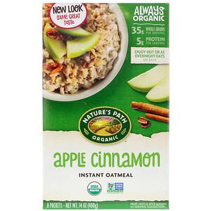 Натурес Пат, Organic Instant Oatmeal, Apple Cinnamon, 8 Packets, 14 oz (400 g) отзывы