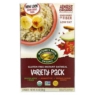 Nature's Path, Gluten Free Instant Oatmeal, Variety Pack, 8 Packets, 11.3 oz (320 g)