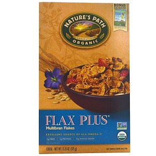 Nature's Path, Organic, Flax Plus, Multibran Flakes Cereal, 13.25 oz (375 g)