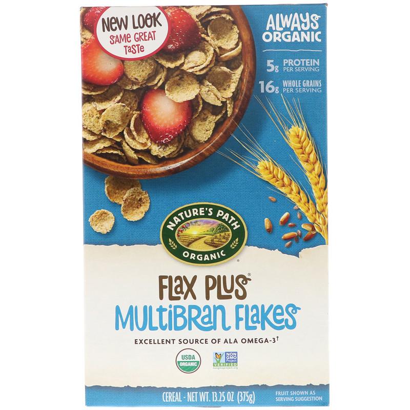 Organic, Flax Plus Multibran Flakes Cereal, 13.25 oz (375 g)